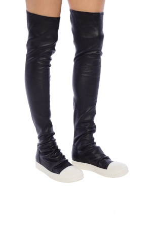 Over-the-knee leather sneakers od Rick Owens